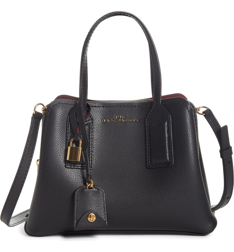 THE MARC JACOBS MARC JACOBS The Editor 29 Leather Crossbody Bag, Main, color, BLACK