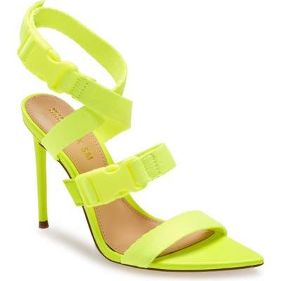 Steve Madden X Winnie Harlow Rumpunch Sandal, Yellow