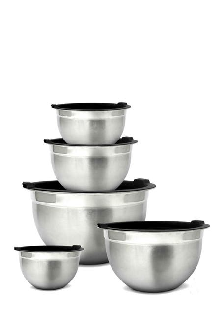 Glomery - Stainless Steel Mixing Bowls and Airtight Lids - Set of 5