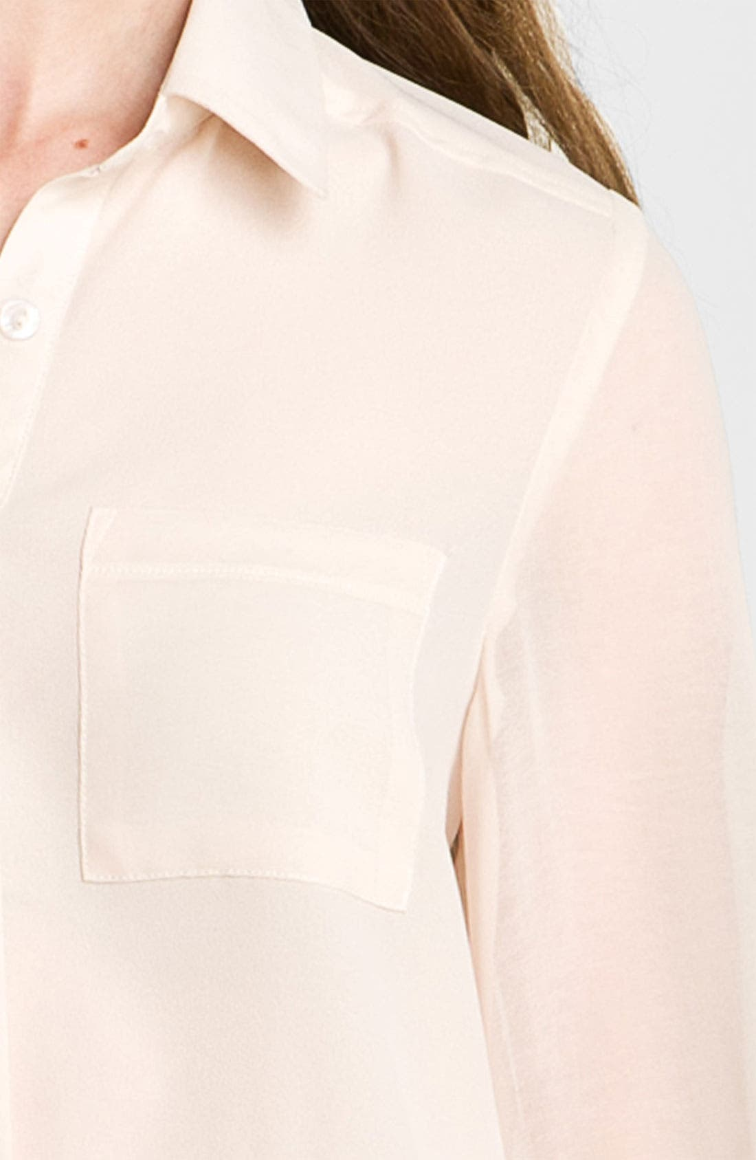 ,                             Lush Sheer Panel High/Low Shirt,                             Alternate thumbnail 22, color,                             900