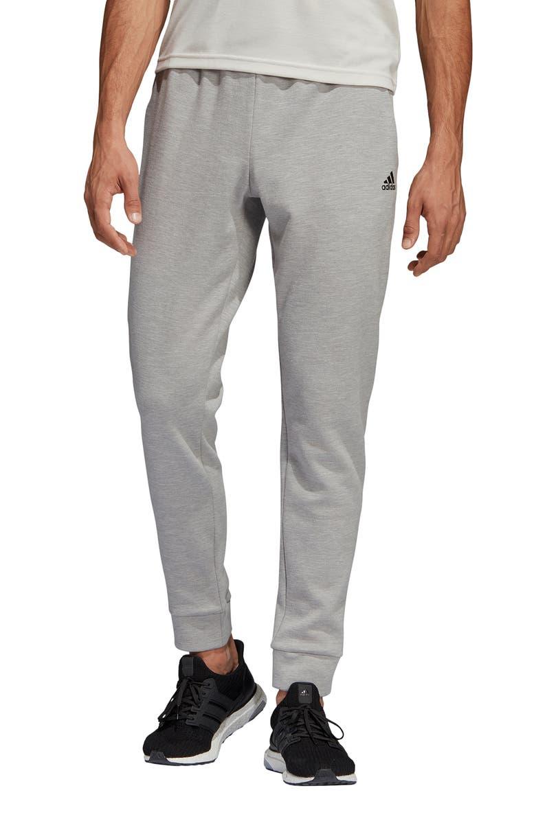 ADIDAS ID Stadium Slim Fit Sweatpants, Main, color, SOLID GREY/ RAW WHITE