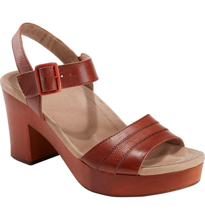 EARTH<SUP>®</SUP> Chestnut Platform Sandal, Main, color, TERRA COTTA LEATHER