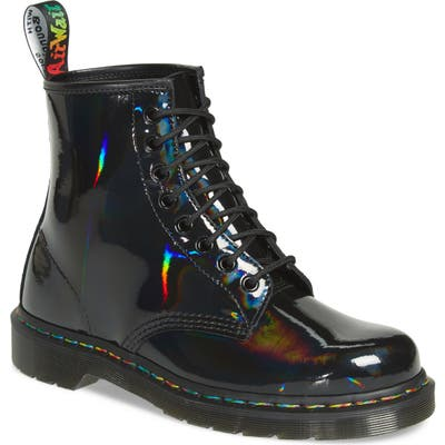 Dr. Martens 1460 Rainbow Patent Boot, Black
