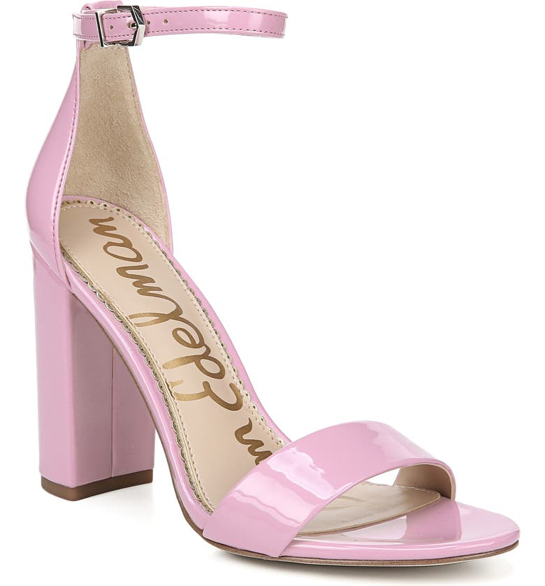 SAM EDELMAN Yaro Ankle Strap Sandal, Main, color, PINK ORCHID PATENT