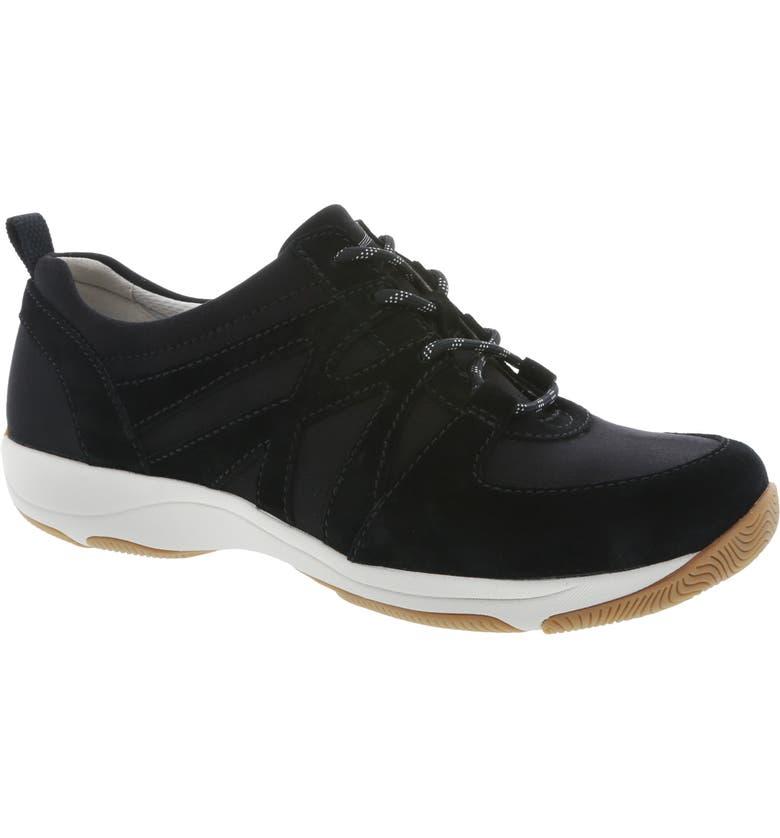 DANSKO Hatty Sneaker, Main, color, BLACK SUEDE