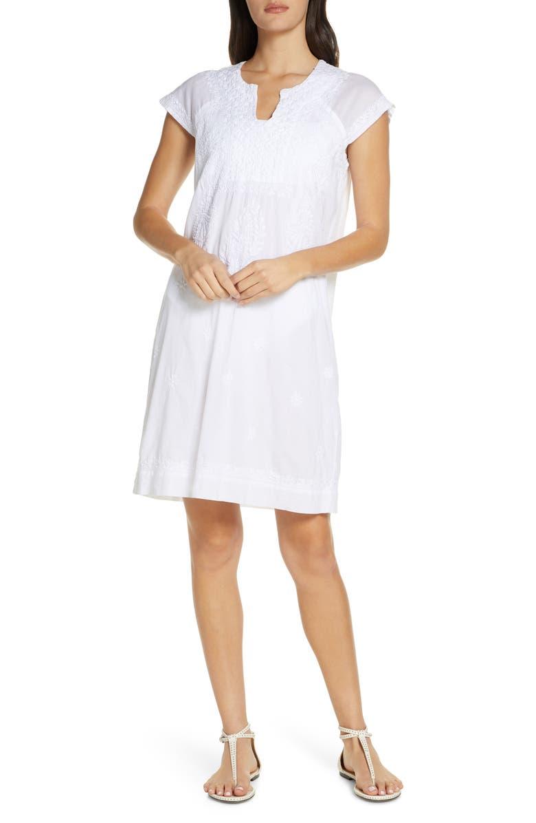 ROLLER RABBIT Faith Cover-Up Shift Dress, Main, color, 100