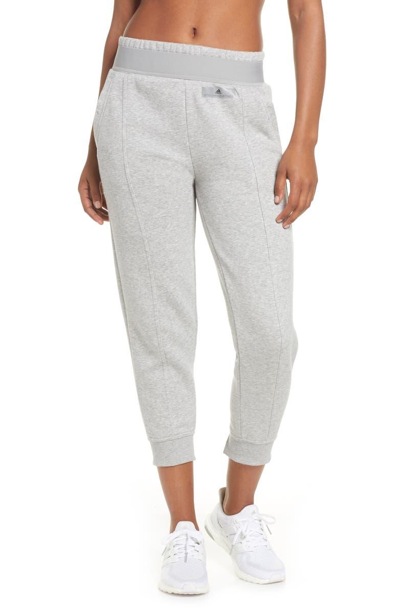 ADIDAS BY STELLA MCCARTNEY Essentials Sweatpants, Main, color, MID GREY