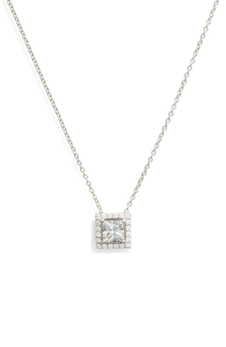 Lafonn Princess Cut Halo Necklace