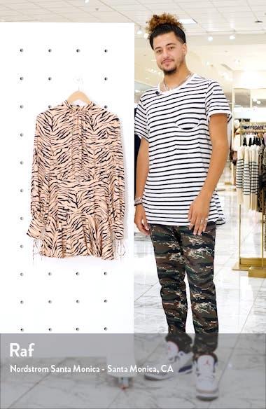 Romy Tiger Print Long Sleeve Minidress, sales video thumbnail