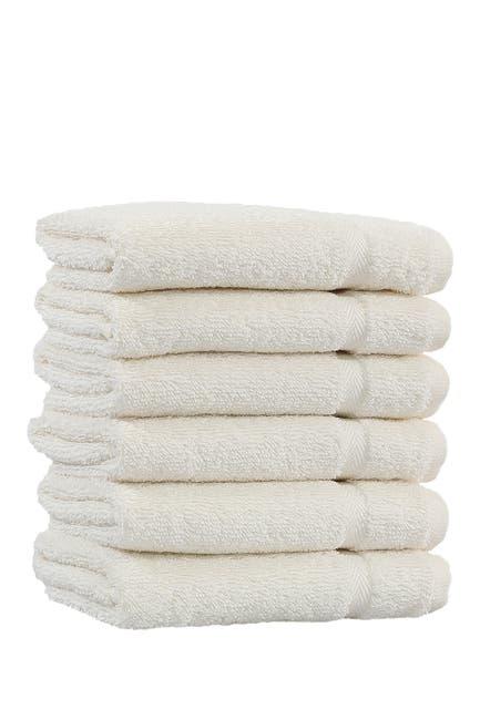 Image of LINUM HOME Denzi Washcloths - Set of 6 - Cream