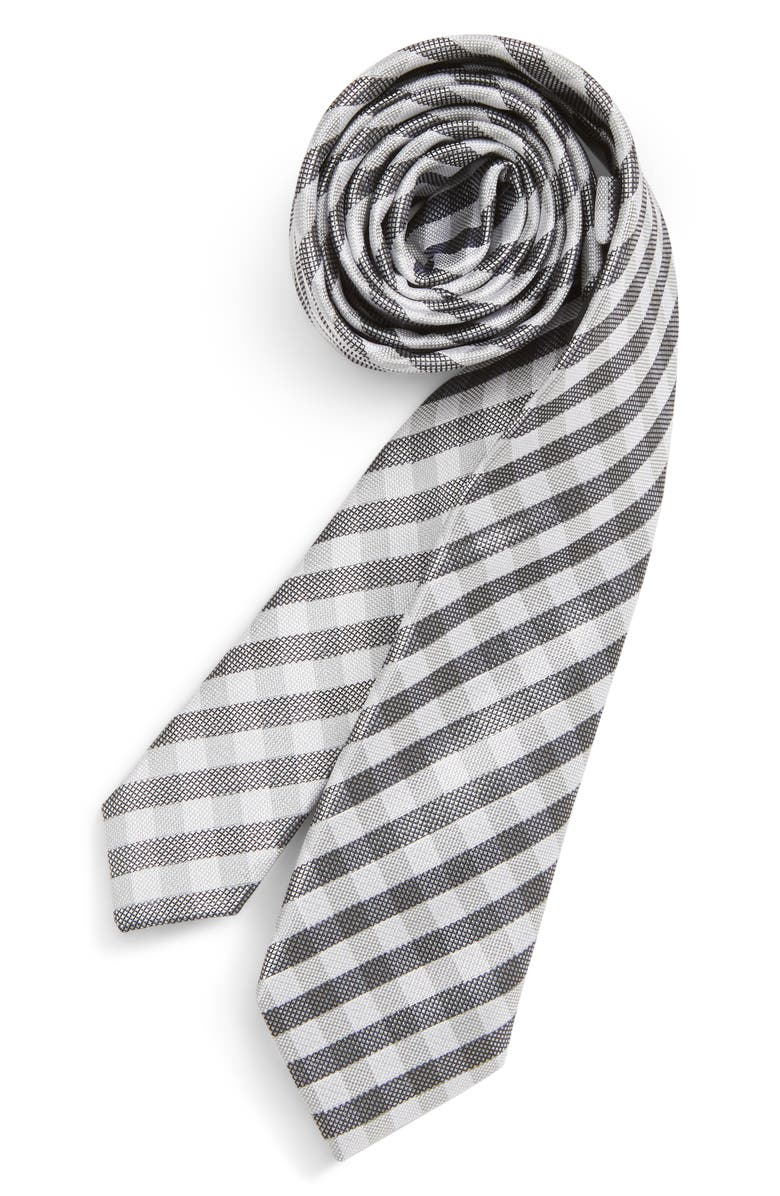 Grover Check Silk Tie Big Boys