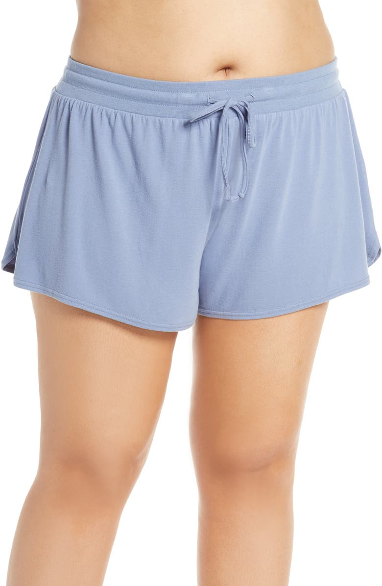 MAKE + MODEL Cloud Sleep Shorts, Main, color, BLUE STONEWASH