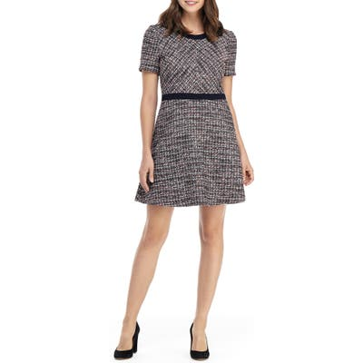 Gal Meets Glam Collection Marley Boucle Fit & Flare Dress, Brown