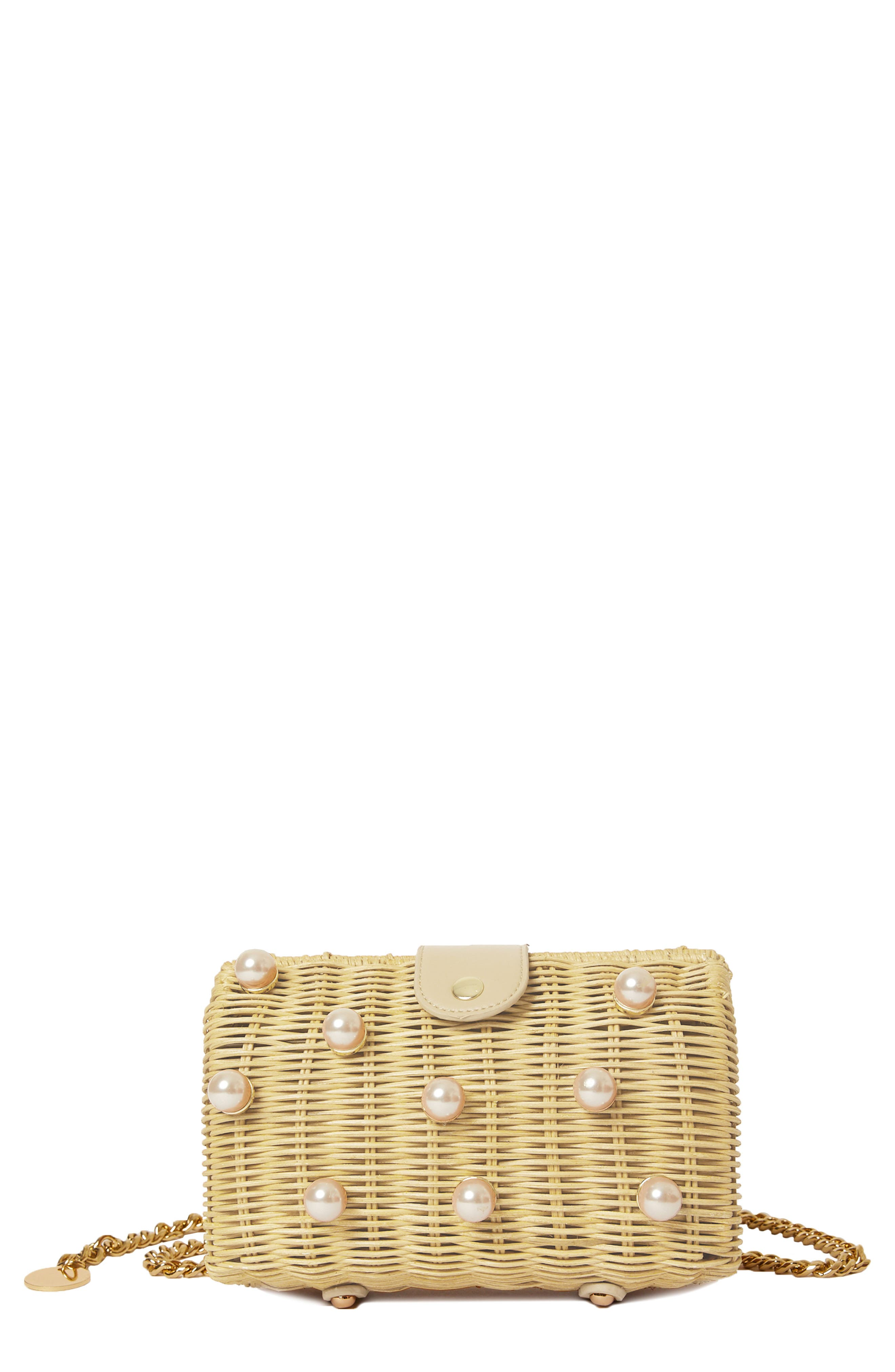 Willow Imitation Pearl Belt Bag