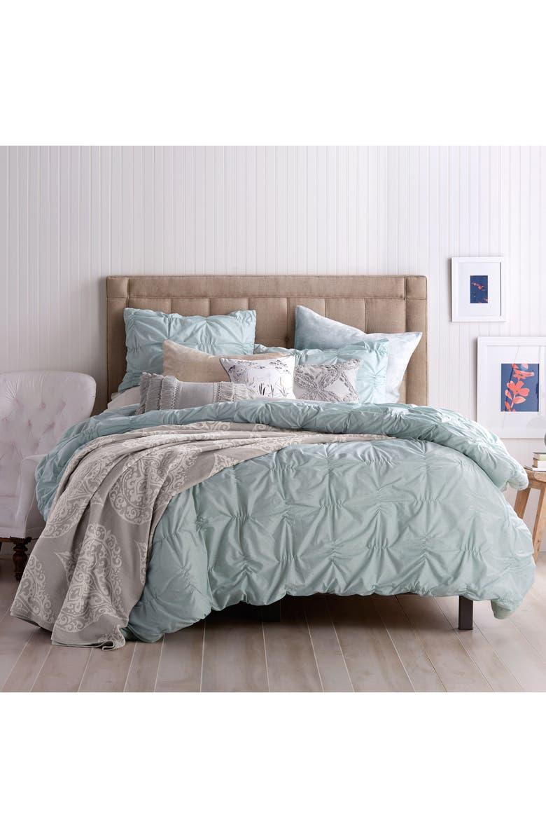 PERI HOME Check Smocked Comforter & Sham Set, Main, color, 440
