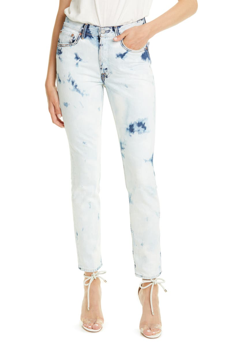 GRLFRND Karolina Bleached Skinny Jeans, Main, color, 400
