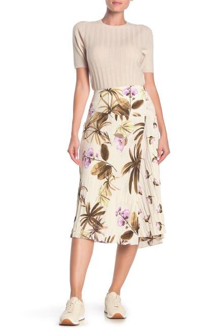 Image of Vince Tropical Garden Midi Skirt