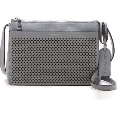 Sole Society Nicoh Faux Leather Crossbody Bag - Grey