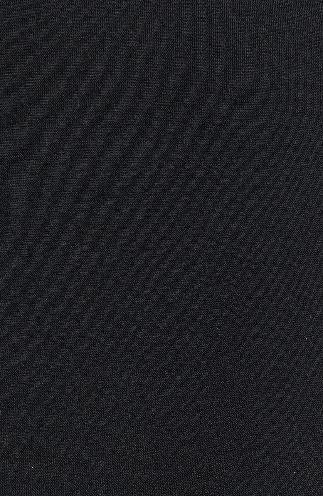 ,                             Faux Wrap Jersey Jumpsuit,                             Alternate thumbnail 9, color,                             BLACK