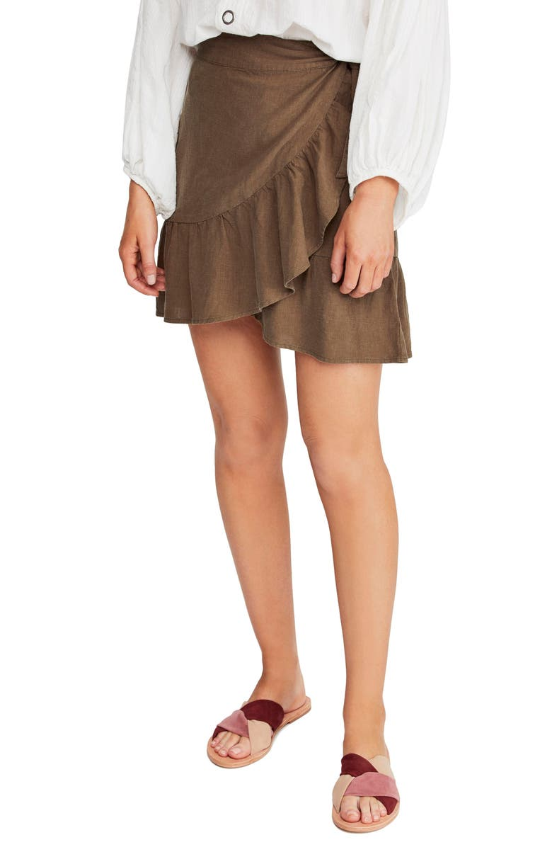 FREE PEOPLE Ruffle My Feathers Miniskirt, Main, color, 350