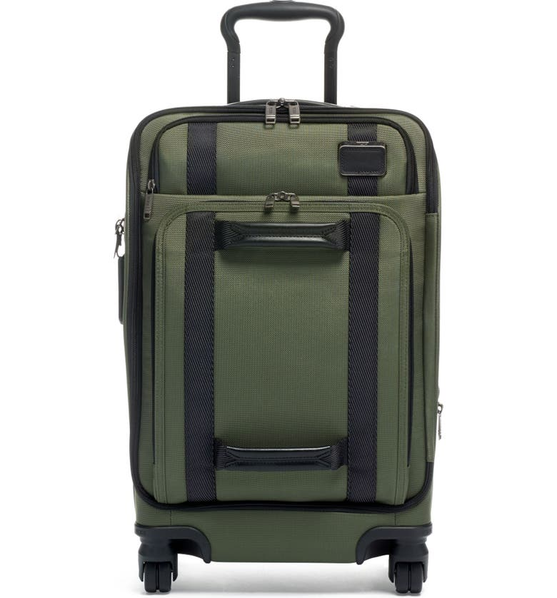 TUMI Merge 22-Inch Front Lid Recycled Dual Access 4-Wheeled Carry-On, Main, color, FOREST