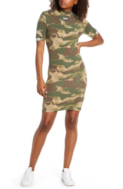 Adidas Originals Dresses CAMO PRINT T-SHIRT DRESS