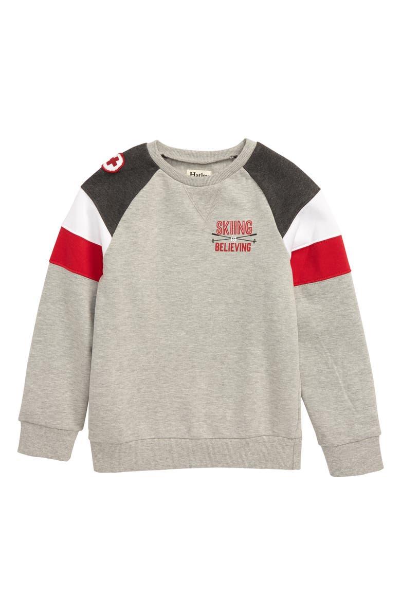 HATLEY Ski Club Sweatshirt, Main, color, GREY