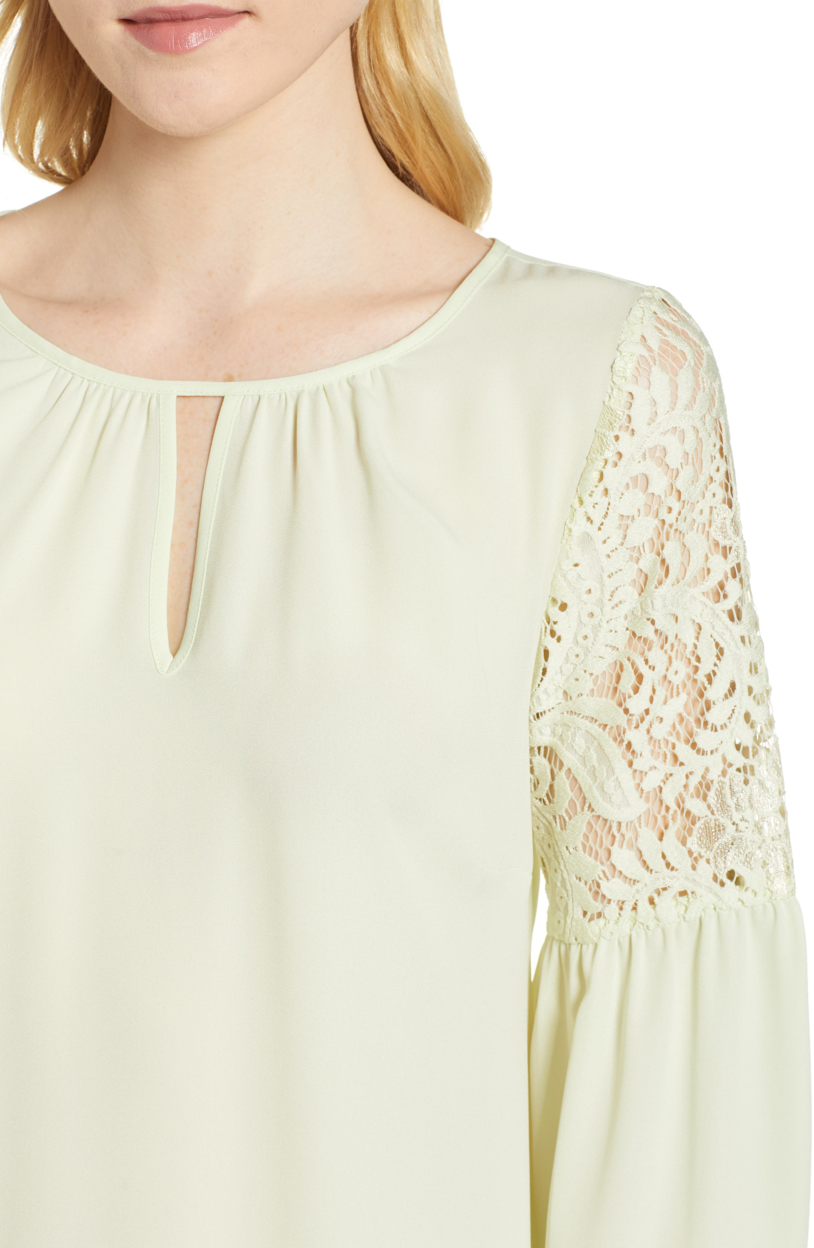 ,                             Lace Bell Sleeve Top,                             Alternate thumbnail 17, color,                             330