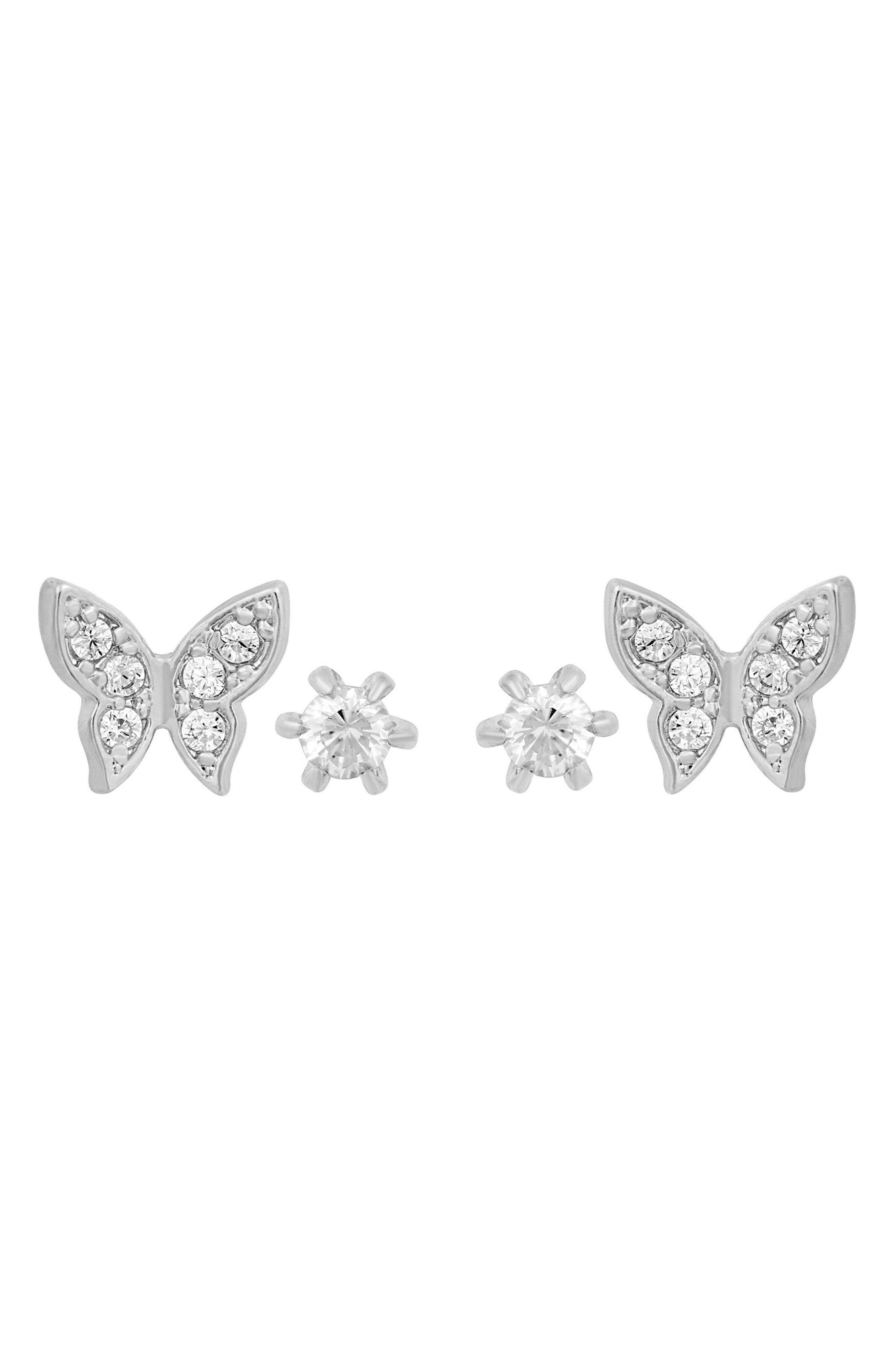 Butterfly Set Of 2 Stud Earrings