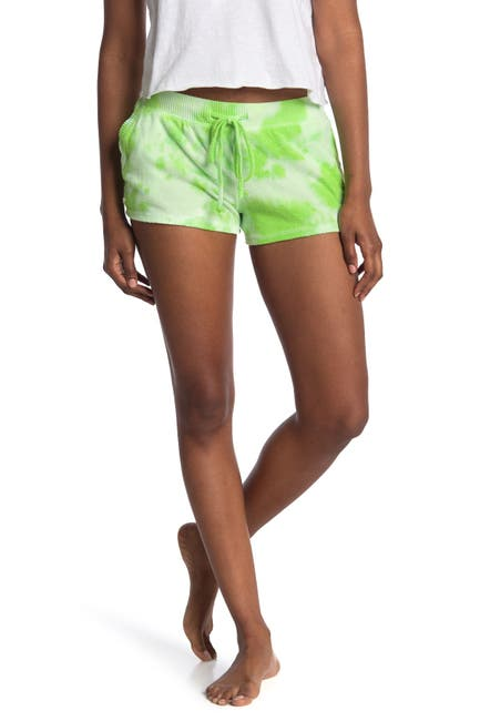 Image of Theo and Spence Tie Dye Print Drawstring Shorts