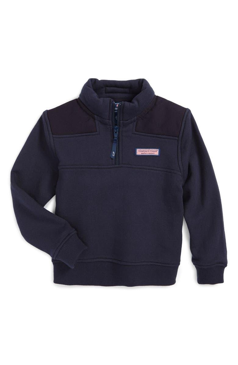 VINEYARD VINES Shep Quarter Zip Pullover, Main, color, VINEYARD NAVY