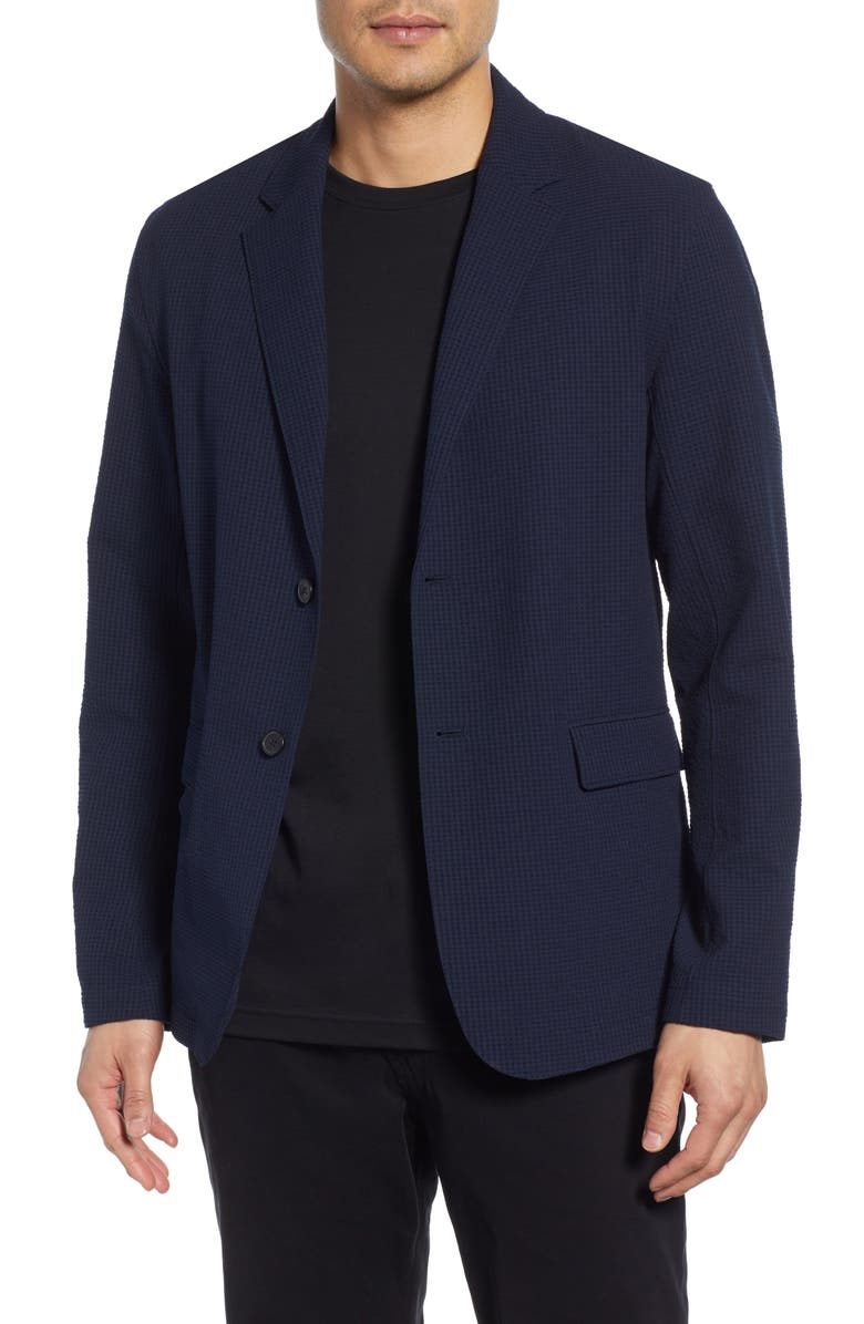 THEORY Saratoga Regular Fit Check Sport Coat, Main, color, ECLIPSE