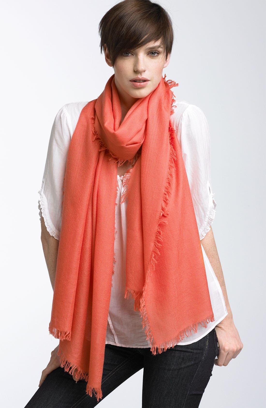 ,                             'Eyelash' Colorblock Cashmere Wrap,                             Main thumbnail 113, color,                             951