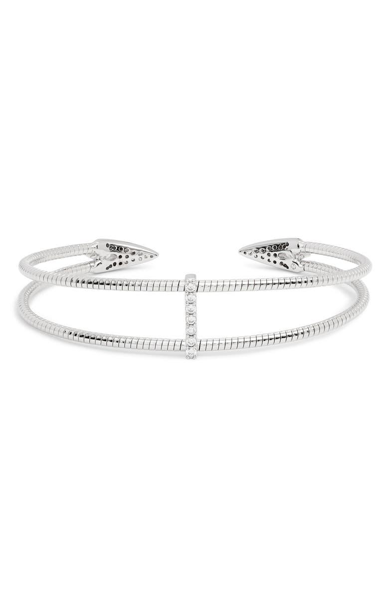 NADRI Flexi Double Cuff Bracelet, Main, color, SILVER