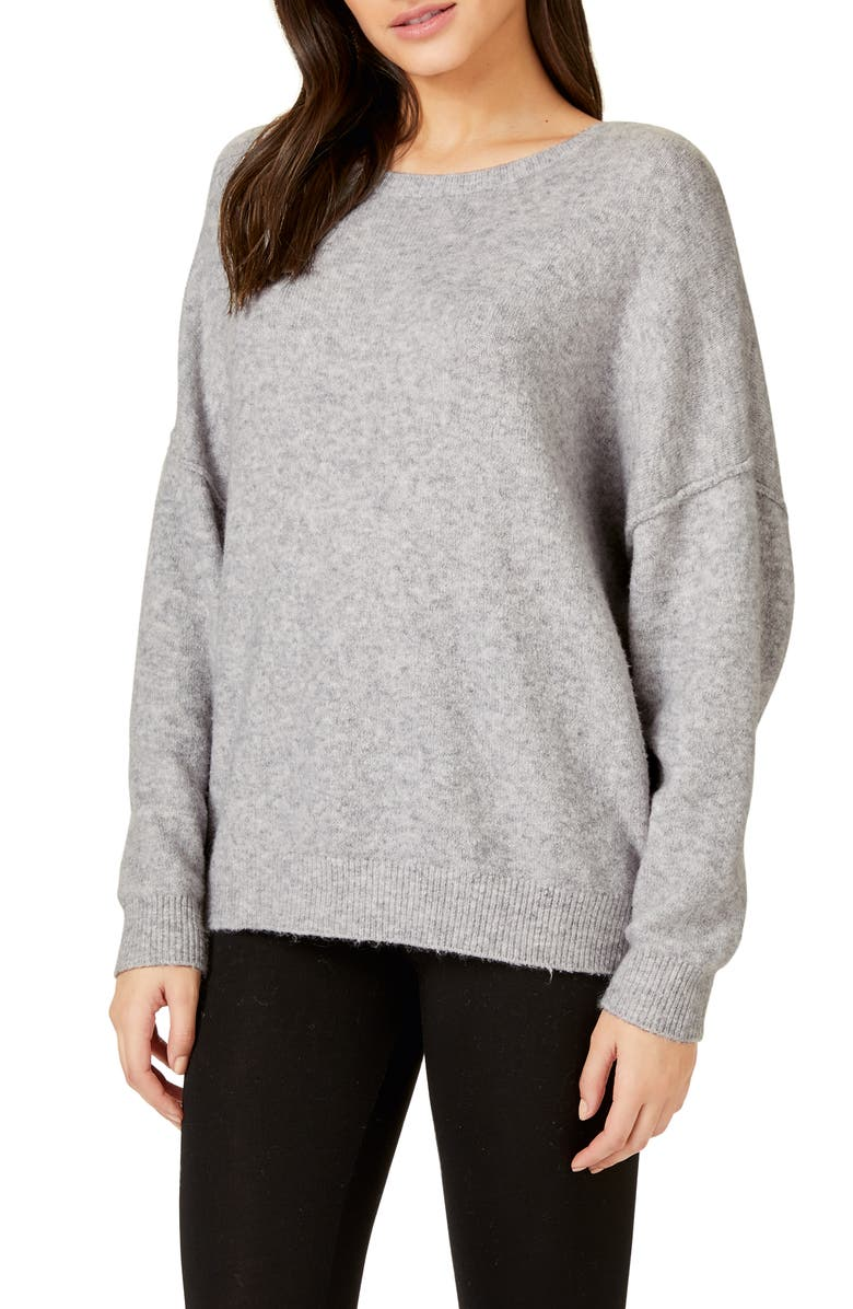 THE WHITE COMPANY Exposed Seam Lounge Sweater, Main, color, 020