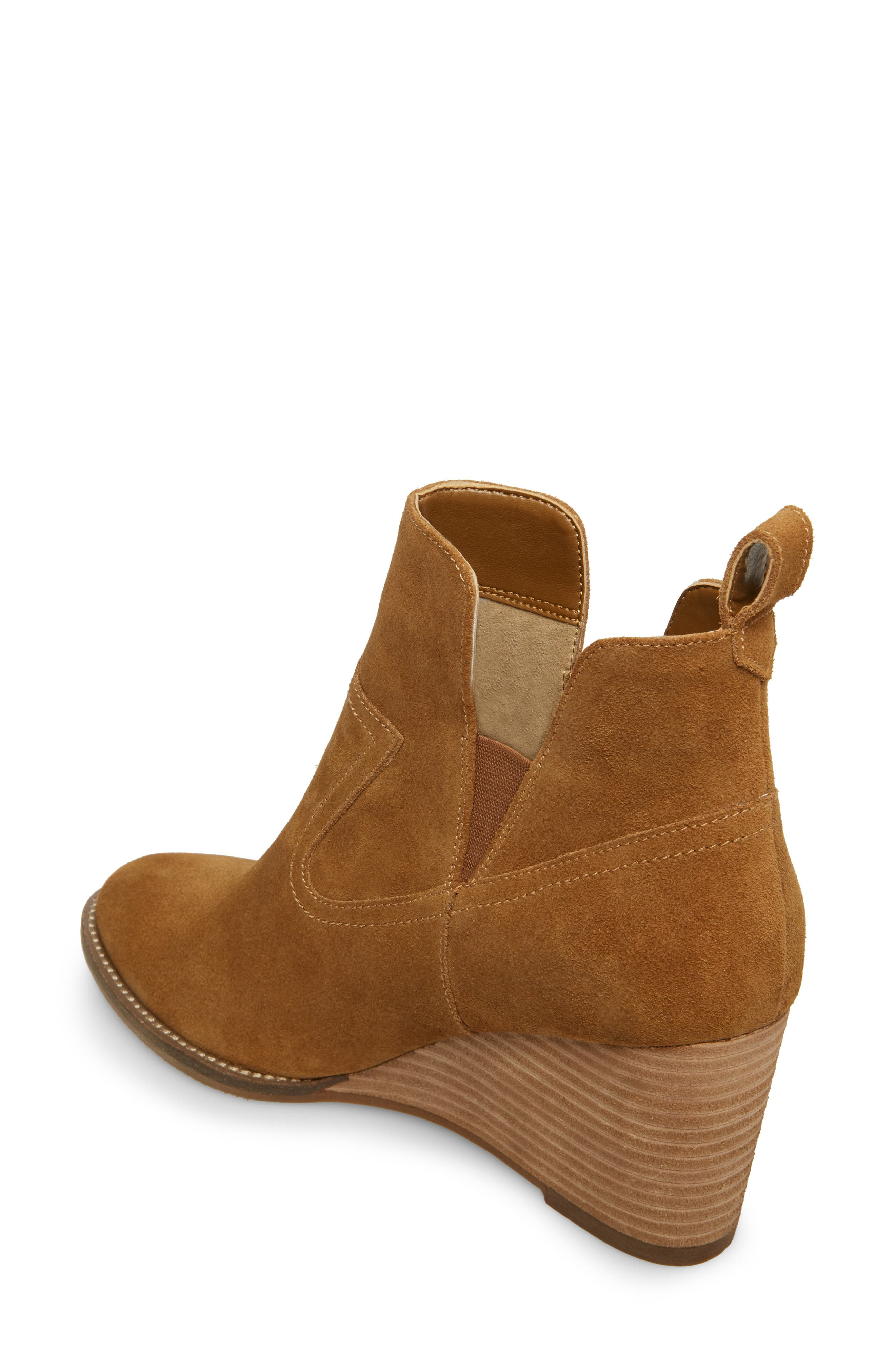 ,                             Irving Waterproof Wedge Bootie,                             Alternate thumbnail 2, color,                             CAMEL SUEDE