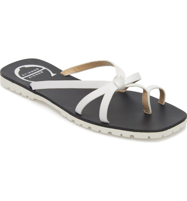 ETIENNE AIGNER Malta Slide Sandal, Main, color, WHITE LEATHER