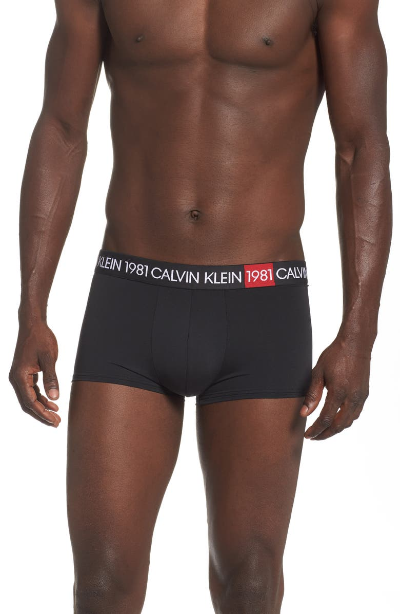 CALVIN KLEIN 1901 Low-Rise Trunks, Main, color, 001