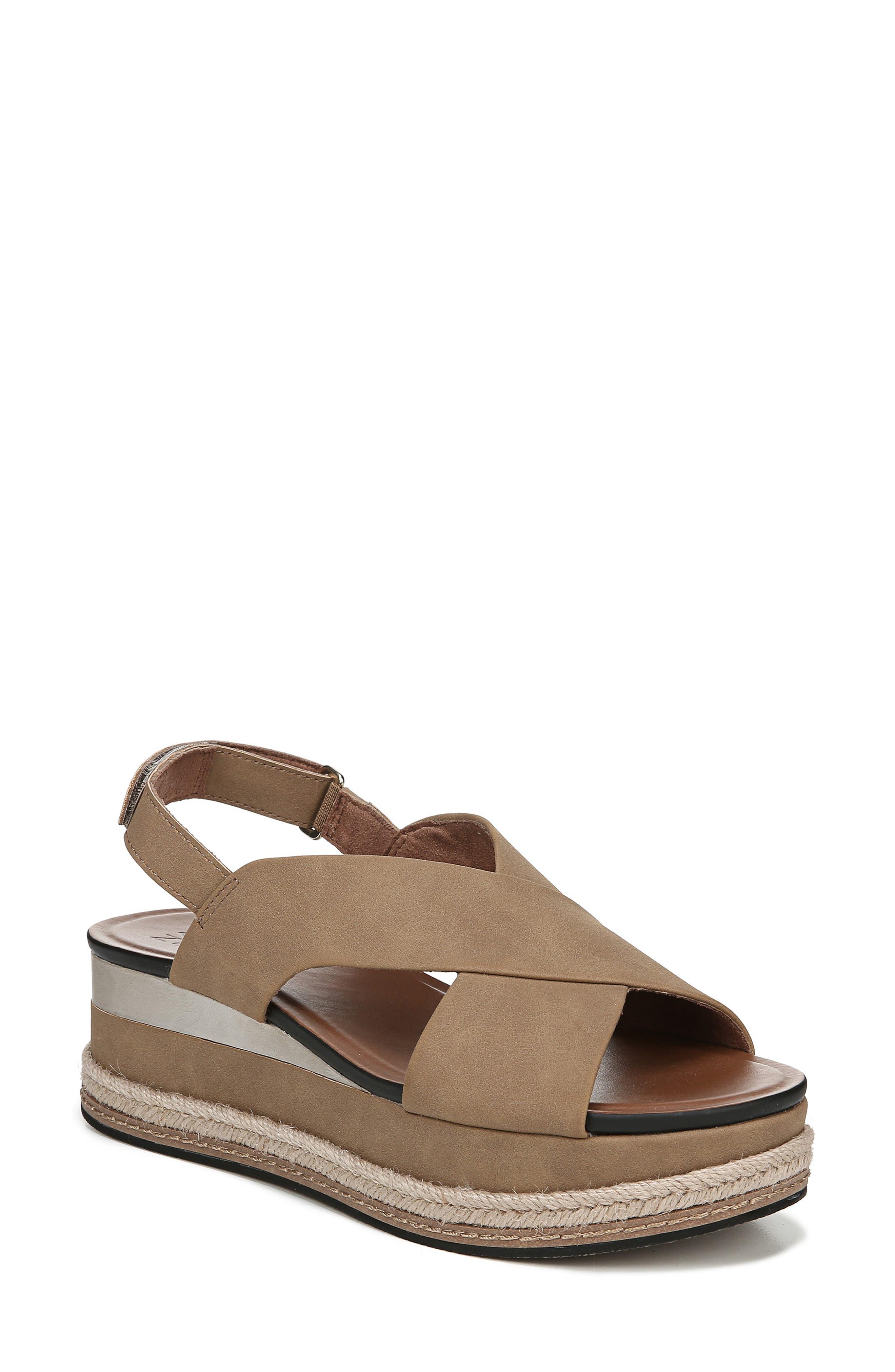 Naturalizer Baya Espadrille Wedge Sandal, Brown
