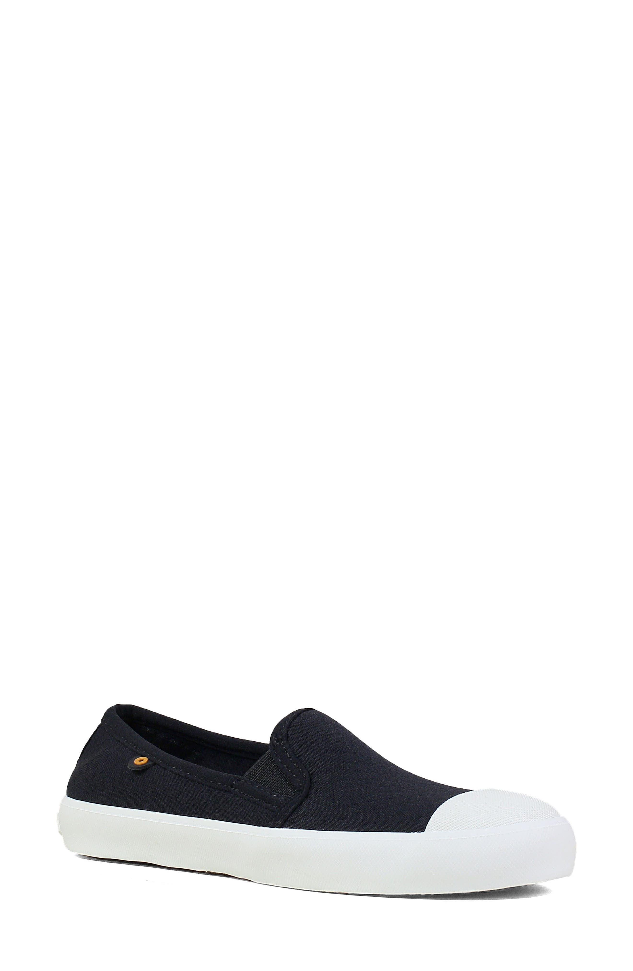 ,                             Kicker Slip-On Sneaker,                             Main thumbnail 1, color,                             BLACK CANVAS