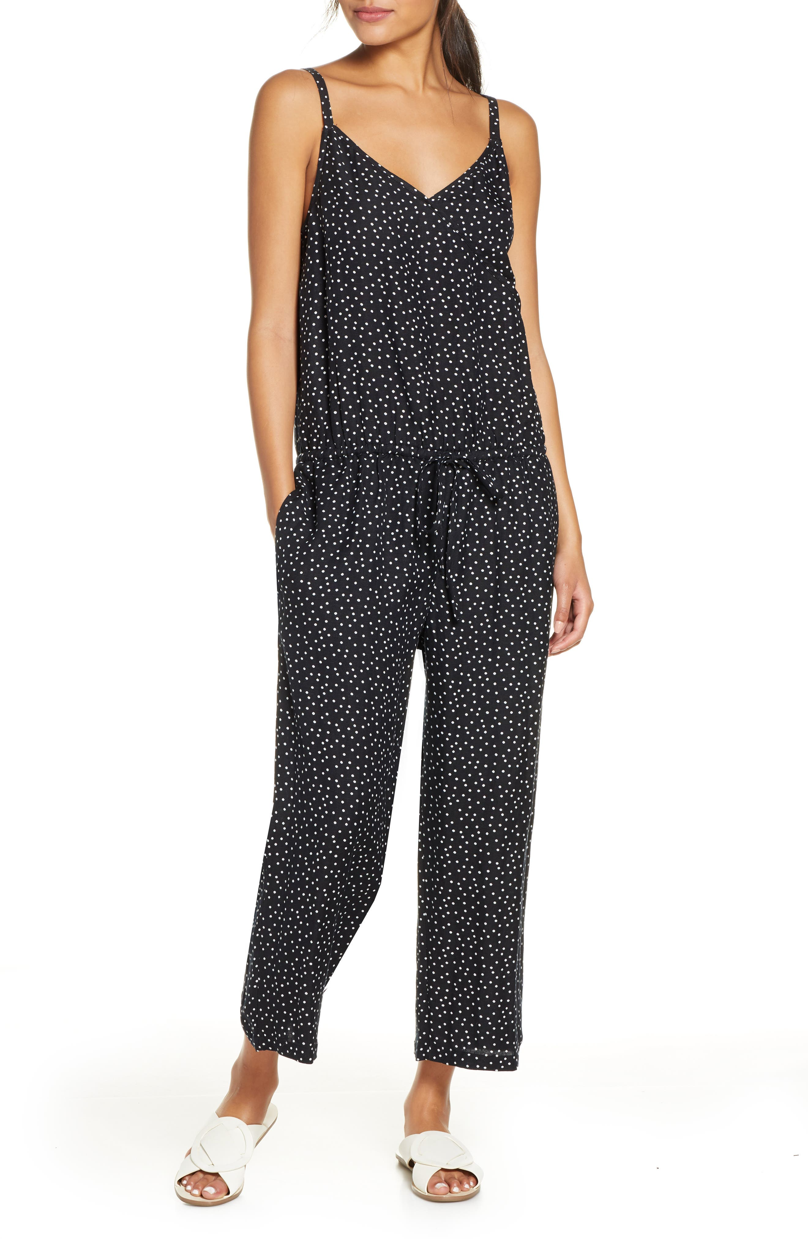 Image of Tommy Bahama Sea Swell Linen Blend Cover-Up Jumpsuit