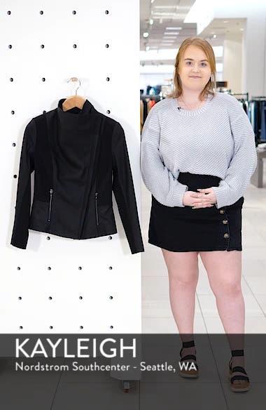 Asymmetrical Leather & Textile Jacket, sales video thumbnail