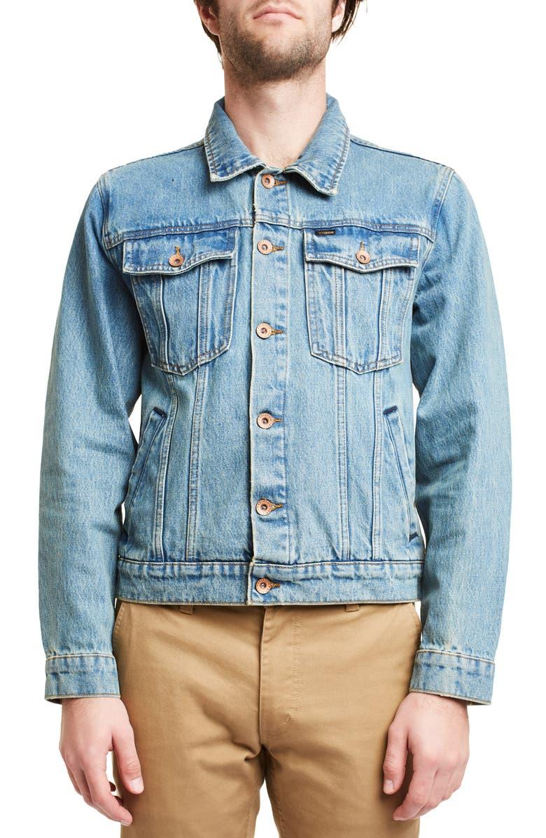 BRIXTON Cable Denim Jacket, Main, color, 400