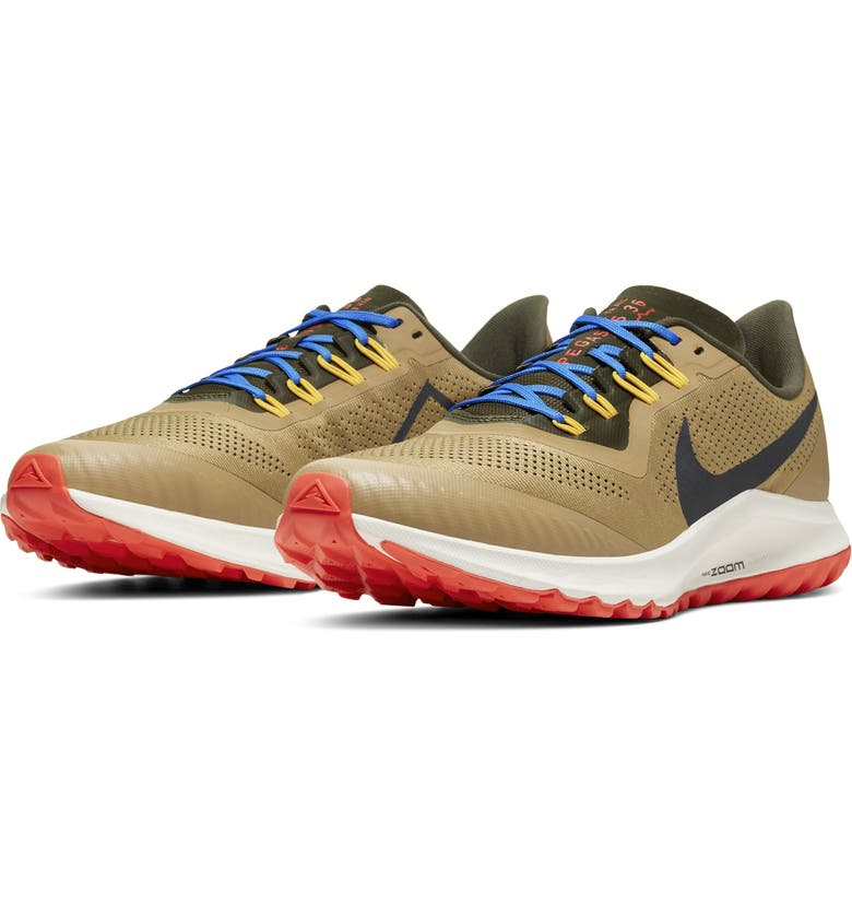 NIKE Air Zoom Pegasus 36 Trail Running Shoe, Main, color, BEECHTREE/ CARGO KHAKI