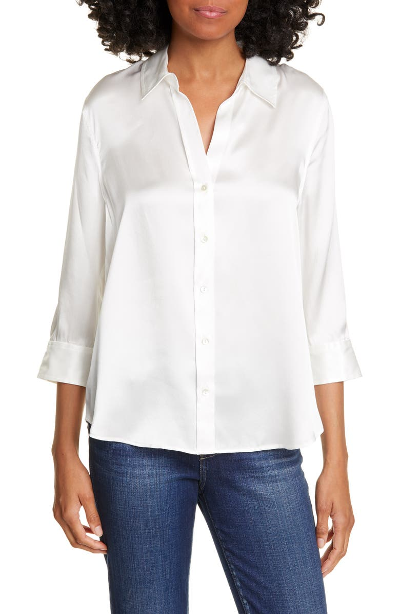 Dani Silk Charmeuse Blouse by L'agence