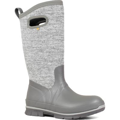 Bogs Crandall Tall Waterproof Boot, Grey