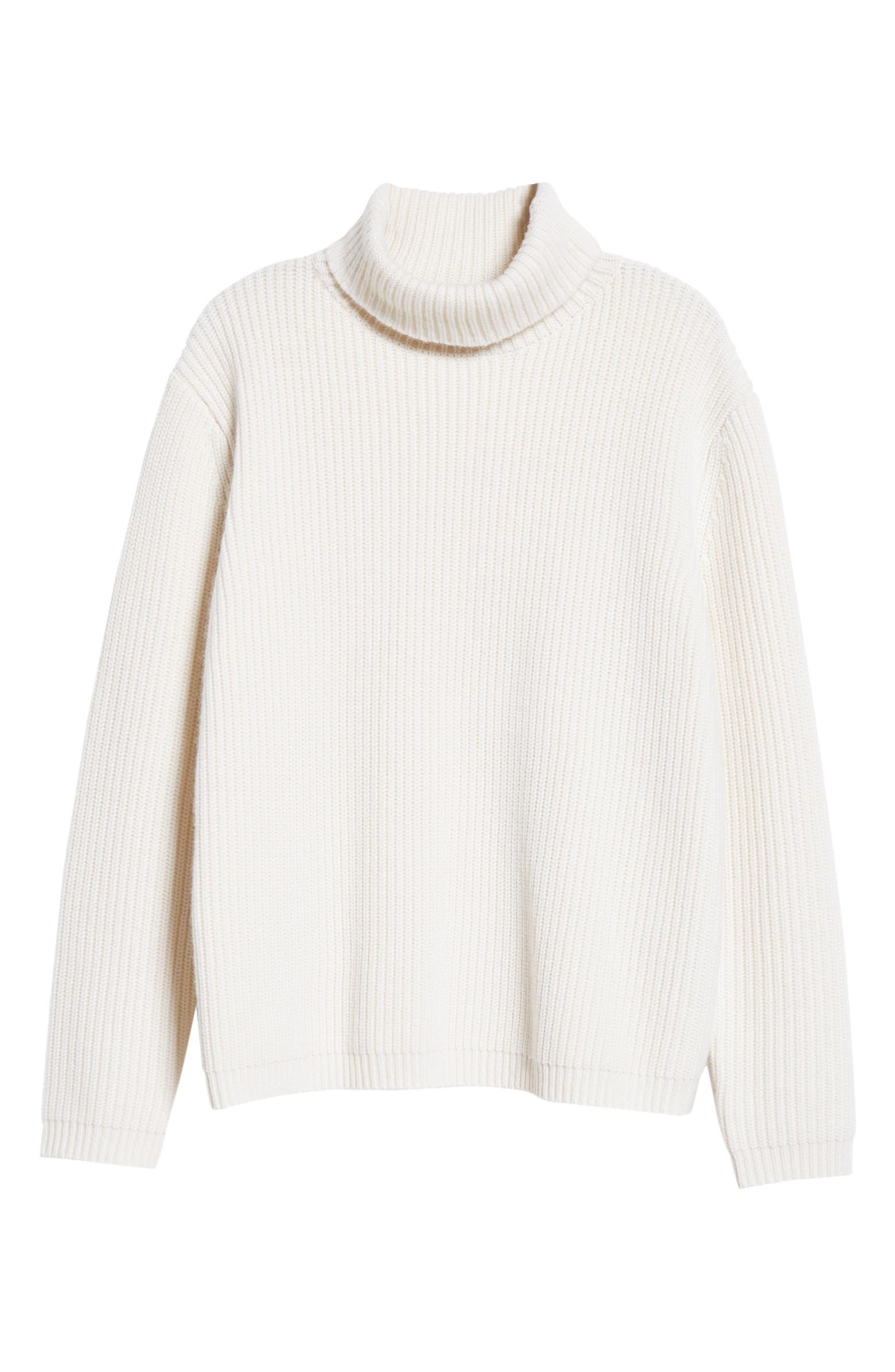 Ribbed Cashmere Turtleneck Sweater JENNI KAYNE