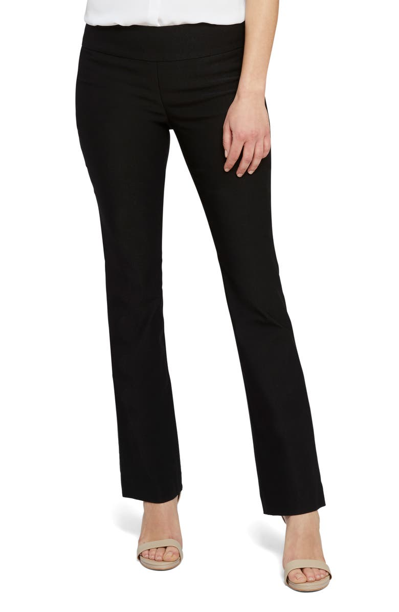 NIC+ZOE Wonderstretch Bootcut Pants, Main, color, BLACK ONYX