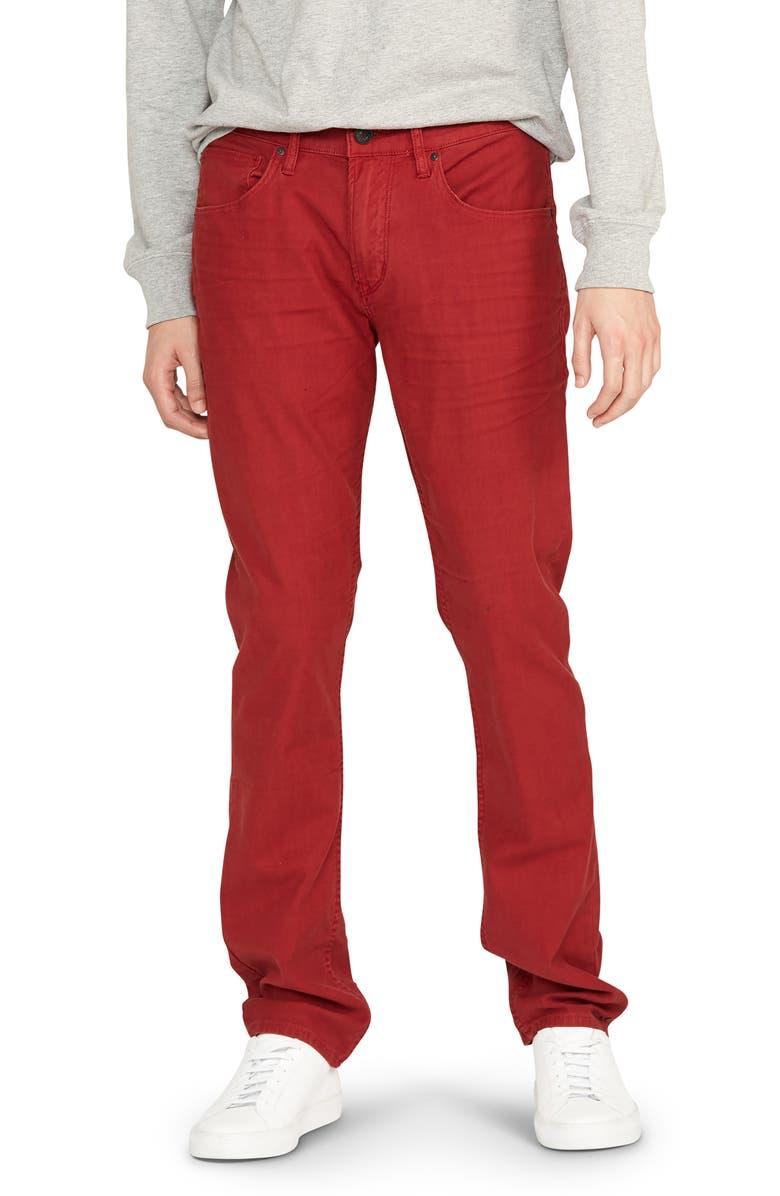 HUDSON JEANS Blake Slim Fit Jeans, Main, color, MAROON