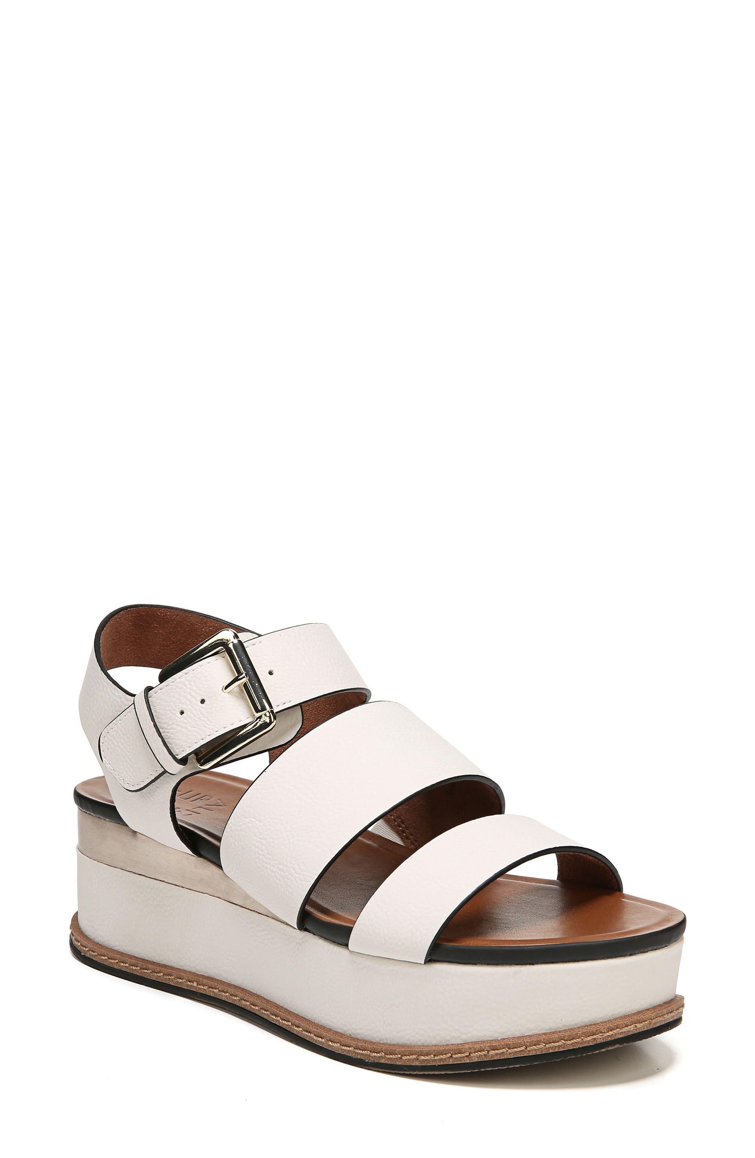 Naturalizer Billie Platform Sandal- White